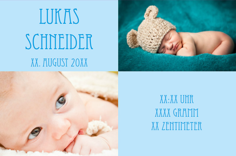 Create Birth Announcement Cards With The Software